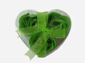 Mýdlové květy 3ks R134 zelená - AKCE