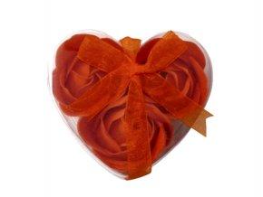 Mýdlové květy 3ks R134 oranž - AKCE