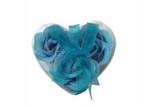 Mýdlové květy 3ks R134 modrá - AKCE