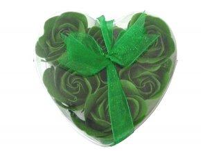 Mýdlové květy 6ks R133 zelená - AKCE