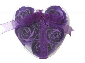 Mýdlové květy 6ks R133 fialová - AKCE