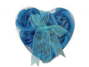 Mýdlové květy 6ks R133 modrá - AKCE