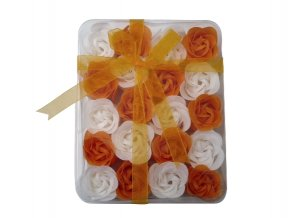 Mýdlové květy 20ks R138 oranžová - AKCE