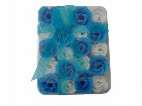 Mýdlové květy 20ks R138 modrá - AKCE
