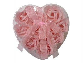 Mýdlové květy 9ks R132 růžová - AKCE