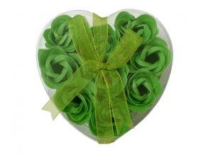 Mýdlové květy 9ks R132 zelená - AKCE