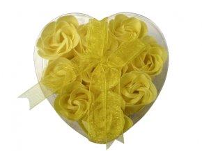 Mýdlové květy 9ks R132 žlutá - AKCE