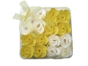 Mýdlové květy 16ks R137 žlutá - AKCE