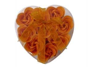 Mýdlové květy 9ks R132 oranžová - AKCE