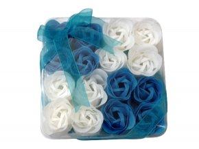 Mýdlové květy 16ks R137 modrá - AKCE