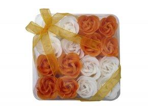 Mýdlové květy 16ks R137 oranžová - AKCE