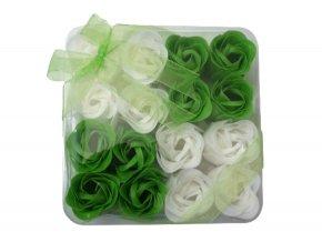 Mýdlové květy 16ks R137 zelená - AKCE