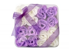 Mýdlové květy 16ks R137 fialová - AKCE