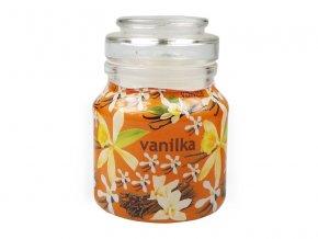 Svíčka ve skle dóza vanilka SLEVA