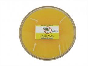 Repelentní svíčka miska 4knoty citron-aloe vera