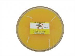 Repelentní svíčka miska 4knoty citron-antitabak