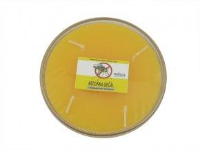 Repelentní svíčka miska 4knoty meduňka-brčál