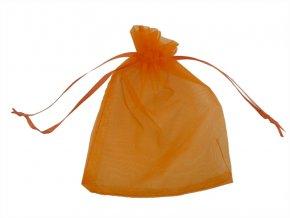 Organzový sáček oranžový 120x150mm AKCE