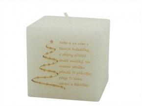 Vánoční svíčka kostka vánoční motto