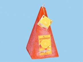 Svíčka rutic jehlan - pomeranč