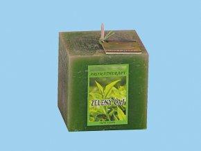 Svíčka rustic kostka-zelený čaj