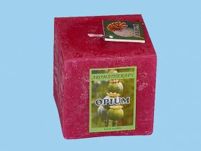 Svíčka rustic kostka-opium