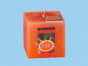 Svíčka rustic kostka-grep