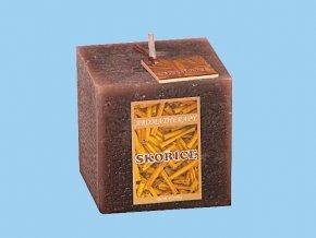 Svíčka rustic kostka-skořice