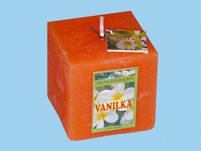 Svíčka rustic kostka-vanilka