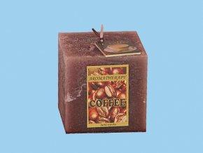 Svíčka rustic kostka-káva