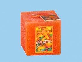 Svíčka rustic kostka-mandarinka