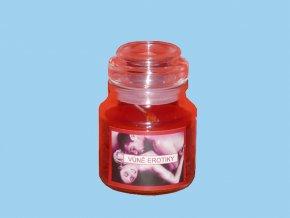Svíčka ve skle kulatá s víčkem - erotická vůně