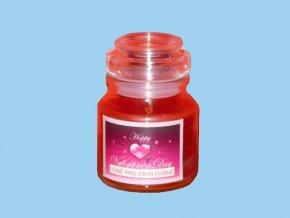 Svíčka ve skle kulatá s víčkem - vůně pro zamilované