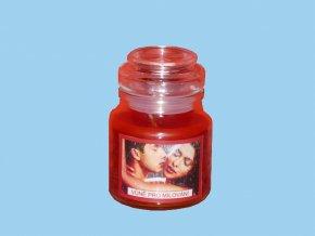Svíčka ve skle kulatá s víčkem - vůně pro milování