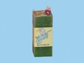 Svíčka kvádr kozoroh zelená