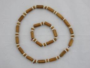 Náhrdelník dřevěný + náramek č.12