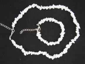 Sada náhrdelník + náramek tromlované č.9 magnesit