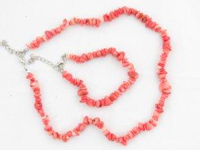 Sada náhrdelník + náramek tromlované č.4 jaspis růžový