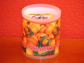 Zahradní svíčka s repelentní vůní - mandarinka