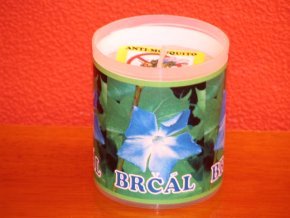 Zahradní svíčka s repelentní vůní - brčál