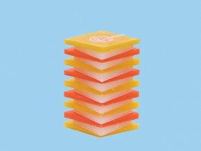 Svíčka PDP kosočtverec oranžovo žlutý