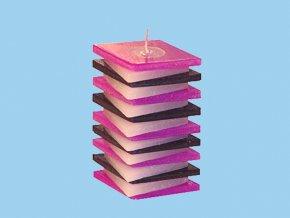 Svíčka PDP kosočtverec fialovo fialový