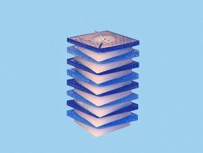 Svíčka PDP kosočtverec modro modrý