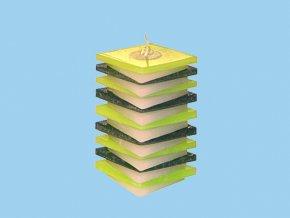 Svíčka PDP kosočtverec zeleno zelený