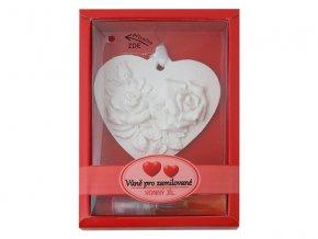 Keramický vonný jíl RENTEX valentýn vůně pro zamilované č.11