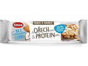 Tyčinka s ořechem a proteinem - kokos 35g