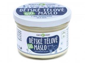 Bio Dětské tělové máslo s bio konopným olejem 120ml