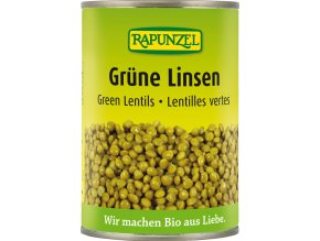 Bio zelená čočka sterilovaná RAPUNZEL 400 g