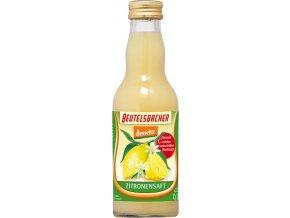 Bio citrónová šťáva 100% Beutelsbacher 0,2 l