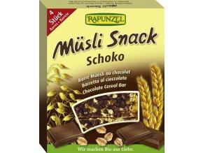 Bio čokoládová müsli tyčinka RAPUNZEL 4 x 29 g